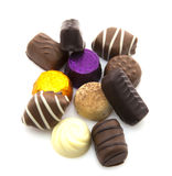 Surtido de chocolates finos Fotos de archivo libres de regalías