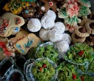 Surtido de chucherías de la Navidad Fotos de archivo