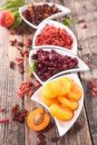 Surtido de fruta seca Imagen de archivo libre de regalías