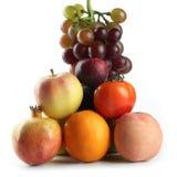 Surtido de frutas aisladas en blanco Fotografía de archivo libre de regalías