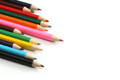 Surtido de lápices coloreados Imagen de archivo libre de regalías