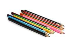 Surtido de lápices coloreados Foto de archivo