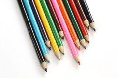 Surtido de lápices coloreados Fotos de archivo libres de regalías