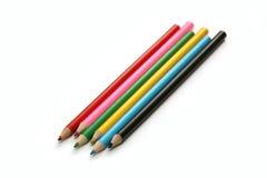Surtido de lápices coloreados Fotos de archivo