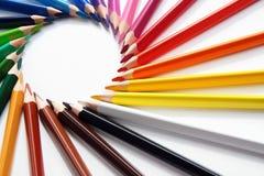 Surtido de lápices coloreados fotografía de archivo