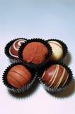 Surtido de las trufas de chocolate Foto de archivo libre de regalías