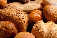 Surtido de pan cocido al horno Fotos de archivo