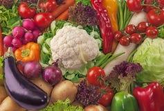Surtido de verduras frescas Fotos de archivo