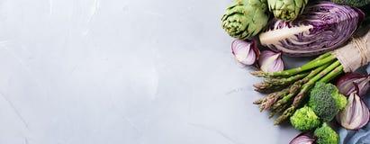 Surtido de verduras orgánicas frescas del granjero fotos de archivo