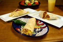 Surtido del Burrito del desayuno Imagenes de archivo