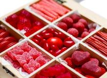 Surtido del caramelo en un rectángulo Imagen de archivo libre de regalías