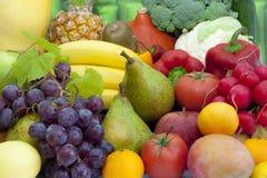 Surtido mezclado de las frutas y verdura imagen de archivo libre de regalías