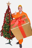 Surtidor con el rectángulo de la Navidad Imagen de archivo