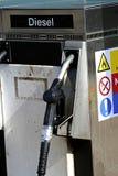 Surtidor de gasolina diesel viejo Imagenes de archivo