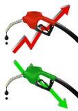 Surtidor de gasolina económico Fotografía de archivo