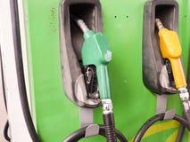 Surtidor de gasolina en la estación Tailandia del aceite Fotografía de archivo