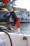 Surtidor de gasolina para el barco Imagen de archivo libre de regalías
