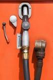 Surtidor de gasolina viejo Imagen de archivo libre de regalías