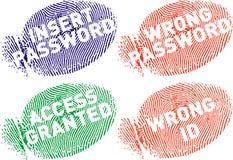 Surtidos van Fingerprint7_mensajes Stock Afbeelding