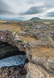 Surtshellir lawowi tunele, Iceland obraz royalty free
