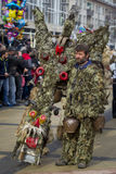 Surva Kuker巨大的面具狂欢节 免版税库存图片