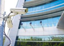 surveilance和安全的Cctv 免版税库存照片