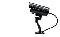 Surveilance-CD-Kamera lokalisiert auf weißem Hintergrund Lizenzfreies Stockbild