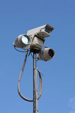Surveillance 2. CCTV equipment with infra-red lighting Stock Images