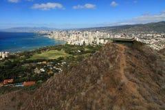 Surveillance au-dessus de Honolulu Photos libres de droits