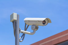 Surveillance autour de l'horloge Photographie stock
