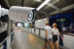 Surveillance autour de l'horloge Image stock