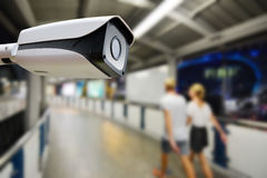 Surveillance autour de l'horloge Photo libre de droits