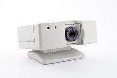 Surveillance camera. Surveillance video camera, on white background Stock Image