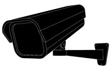 Surveillance Camera. Vector illustration of a security camera Royalty Free Stock Photos