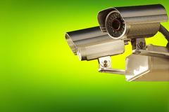 Surveillance camera. Active screening background. Royalty Free Stock Photography