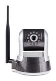 Surveillance camera with antenna Royalty Free Stock Image