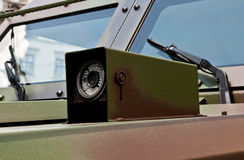 Surveillance Camera on the armored reconnaissance vehicle Stock Photo