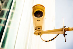 A surveillance camera in the city Stock Image
