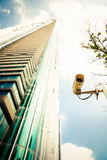A surveillance camera in the city Royalty Free Stock Images