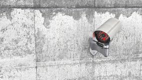 Surveillance Camera on the  concret wall 3d Stock Photo