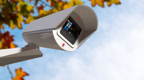 Surveillance Camera In The Daytime Royalty Free Stock Images