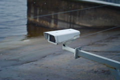 Surveillance camera on the dock Stock Photography