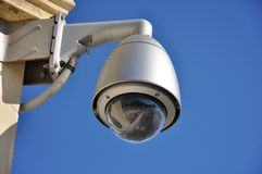 Surveillance camera dome type Royalty Free Stock Photos