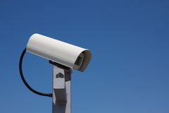 Surveillance Camera Facing Right Landscape Stock Photo
