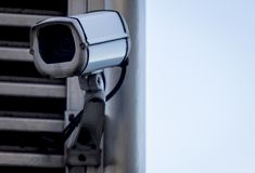 Surveillance Camera Front Royalty Free Stock Images