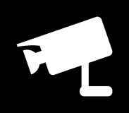 Surveillance camera icon illustrated Royalty Free Stock Photos