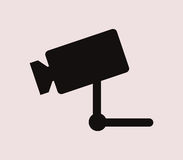 Surveillance camera icon illustrated Royalty Free Stock Images