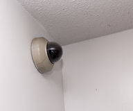 Surveillance camera isolated. Surveillance camera isolated on a white background royalty free stock images