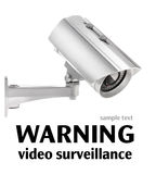 Surveillance camera isolated on white (with clipping paths) Royalty Free Stock Photography