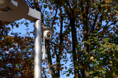 The surveillance camera Stock Images